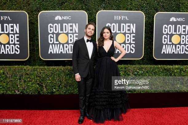 77th ANNUAL GOLDEN GLOBE AWARDS Pictured Ben Platt and Molly Gordon arrive to the 77th Annual Golden Globe Awards held at the Beverly Hilton Hotel on...