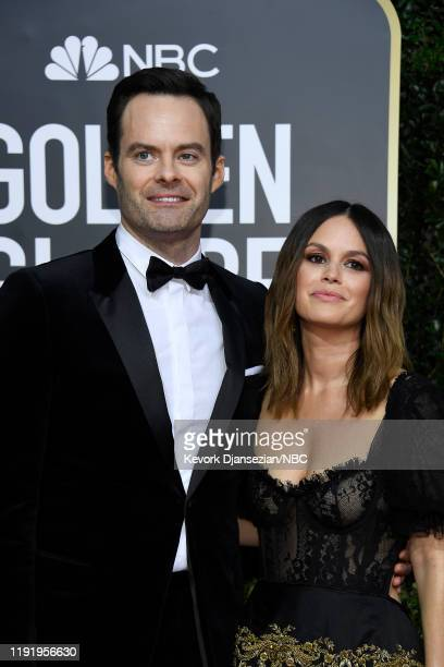 77th ANNUAL GOLDEN GLOBE AWARDS Pictured Bill Hader and Rachel Bilson arrive to the 77th Annual Golden Globe Awards held at the Beverly Hilton Hotel...