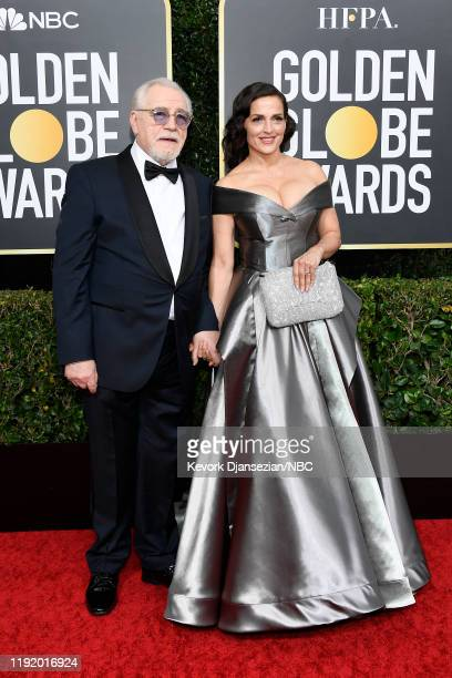 77th ANNUAL GOLDEN GLOBE AWARDS Pictured Brian Cox and Nicole Ansari arrive to the 77th Annual Golden Globe Awards held at the Beverly Hilton Hotel...