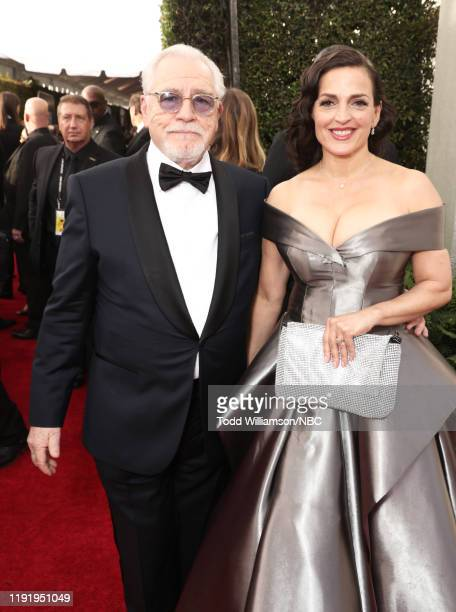 77th ANNUAL GOLDEN GLOBE AWARDS Pictured Brian Cox and Nicole AnsariCox arrive to the 77th Annual Golden Globe Awards held at the Beverly Hilton...