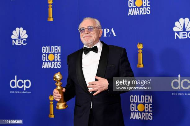 "77th ANNUAL GOLDEN GLOBE AWARDS -- Pictured: Brian Cox, winner of the Best Performance by an Actor in a Television Series - Drama for ""Succession"" in..."