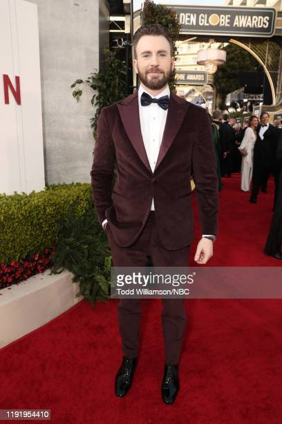 77th ANNUAL GOLDEN GLOBE AWARDS Pictured Chris Evans arrives to the 77th Annual Golden Globe Awards held at the Beverly Hilton Hotel on January 5 2020