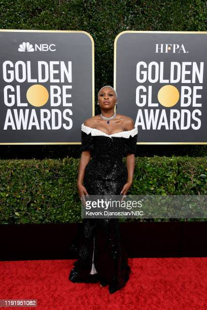 77th ANNUAL GOLDEN GLOBE AWARDS -- Pictured: Cynthia Erivo arrives to the 77th Annual Golden Globe Awards held at the Beverly Hilton Hotel on January...