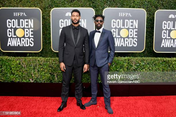 77th ANNUAL GOLDEN GLOBE AWARDS Pictured Djibril Zonga and Ladj Ly arrive to the 77th Annual Golden Globe Awards held at the Beverly Hilton Hotel on...