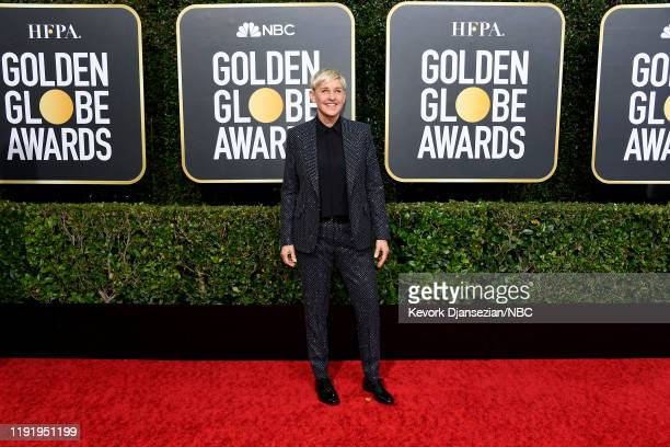 77th ANNUAL GOLDEN GLOBE AWARDS -- Pictured: Ellen DeGeneres arrives to the 77th Annual Golden Globe Awards held at the Beverly Hilton Hotel on...