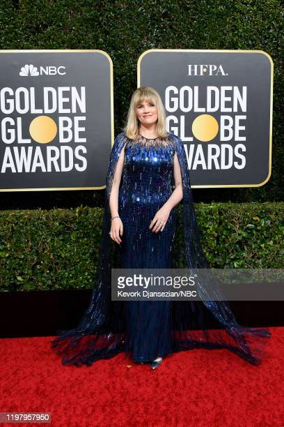 77th ANNUAL GOLDEN GLOBE AWARDS Pictured Emerald Fennell arrives to the 77th Annual Golden Globe Awards held at the Beverly Hilton Hotel on January 5...