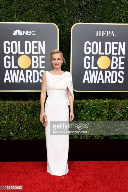77th ANNUAL GOLDEN GLOBE AWARDS -- Pictured: Gillian Anderson arrives to the 77th Annual Golden Globe Awards held at the Beverly Hilton Hotel on...