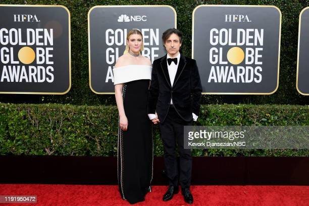 77th ANNUAL GOLDEN GLOBE AWARDS Pictured Greta Gerwig and Noah Baumbach arrive to the 77th Annual Golden Globe Awards held at the Beverly Hilton...