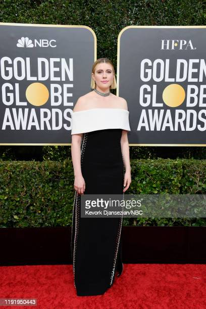 77th ANNUAL GOLDEN GLOBE AWARDS -- Pictured: Greta Gerwig arrives to the 77th Annual Golden Globe Awards held at the Beverly Hilton Hotel on January...