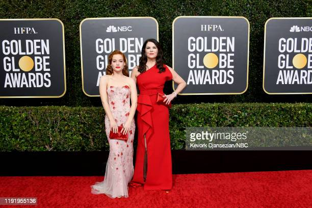 77th ANNUAL GOLDEN GLOBE AWARDS -- Pictured: Jane Levy and Lauren Graham arrive to the 77th Annual Golden Globe Awards held at the Beverly Hilton...