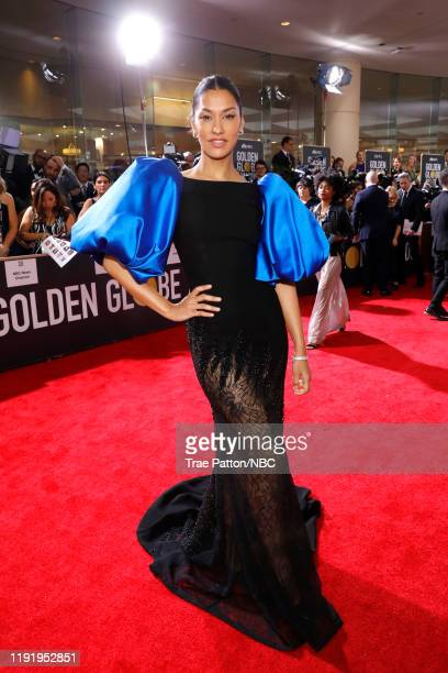 77th ANNUAL GOLDEN GLOBE AWARDS -- Pictured: Janina Gavankar arrives to the 77th Annual Golden Globe Awards held at the Beverly Hilton Hotel on...