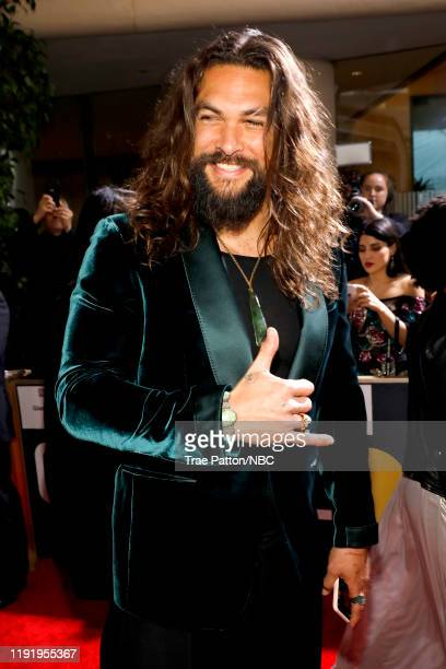 77th ANNUAL GOLDEN GLOBE AWARDS -- Pictured: Jason Momoa arrives to the 77th Annual Golden Globe Awards held at the Beverly Hilton Hotel on January...