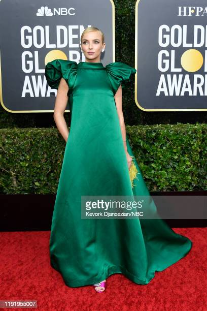 77th ANNUAL GOLDEN GLOBE AWARDS -- Pictured: Jodie Comer arrives to the 77th Annual Golden Globe Awards held at the Beverly Hilton Hotel on January...