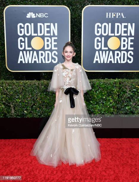 77th ANNUAL GOLDEN GLOBE AWARDS Pictured Julia Butters arrives to the 77th Annual Golden Globe Awards held at the Beverly Hilton Hotel on January 5...