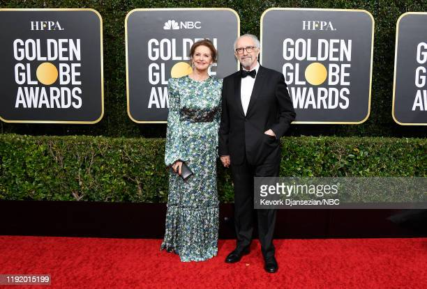 77th ANNUAL GOLDEN GLOBE AWARDS Pictured Kate Fahy and Jonathan Pryce arrive to the 77th Annual Golden Globe Awards held at the Beverly Hilton Hotel...
