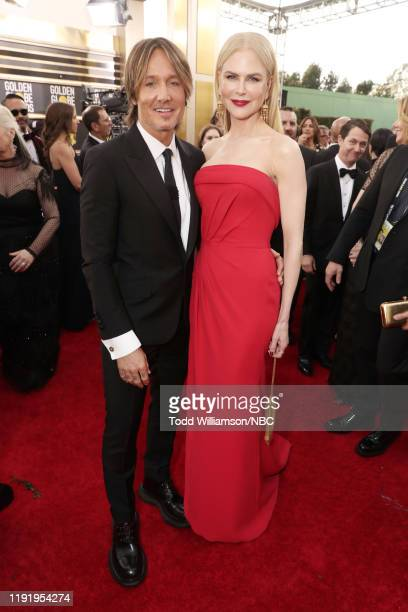 77th ANNUAL GOLDEN GLOBE AWARDS -- Pictured: Keith Urban and Nicole Kidman arrive to the 77th Annual Golden Globe Awards held at the Beverly Hilton...