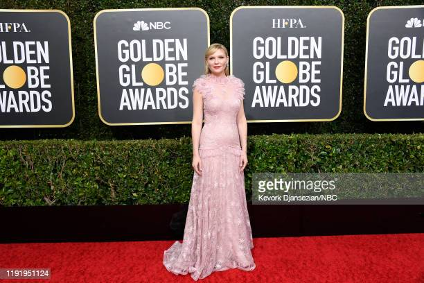 77th ANNUAL GOLDEN GLOBE AWARDS Pictured Kirsten Dunst arrives to the 77th Annual Golden Globe Awards held at the Beverly Hilton Hotel on January 5...