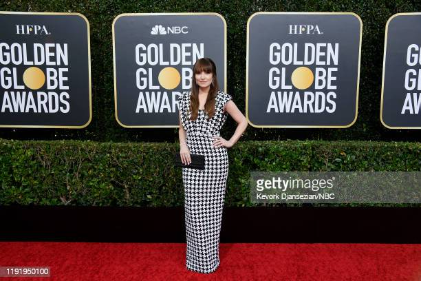 77th ANNUAL GOLDEN GLOBE AWARDS -- Pictured: Lorene Scafaria arrives to the 77th Annual Golden Globe Awards held at the Beverly Hilton Hotel on...