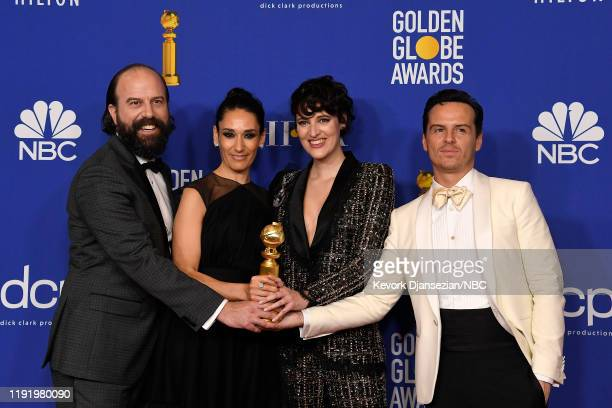 77th ANNUAL GOLDEN GLOBE AWARDS Pictured Members of the cast of Fleabag winners of the Brett Gelman Sian Clifford Phoebe WallerBridge and Andrew...
