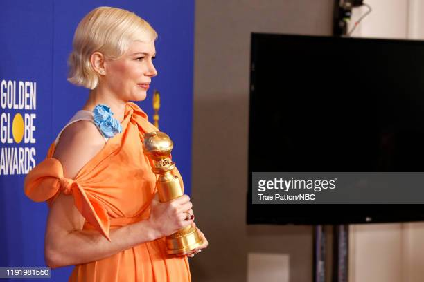77th ANNUAL GOLDEN GLOBE AWARDS -- Pictured: Michelle Williams, winner of the Best Performance by an actress in a Limited Series or a Motion Picture...