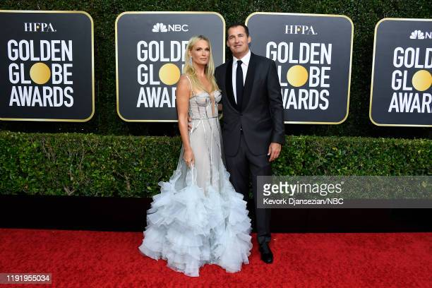 77th ANNUAL GOLDEN GLOBE AWARDS -- Pictured: Molly Sims and Scott Stuber arrive to the 77th Annual Golden Globe Awards held at the Beverly Hilton...