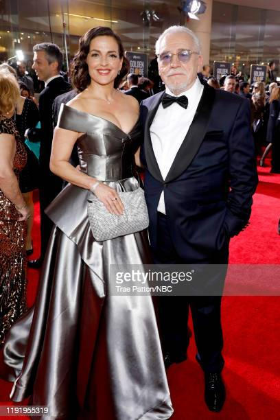77th ANNUAL GOLDEN GLOBE AWARDS Pictured Nicole AnsariCox and Brian Cox arrive to the 77th Annual Golden Globe Awards held at the Beverly Hilton...