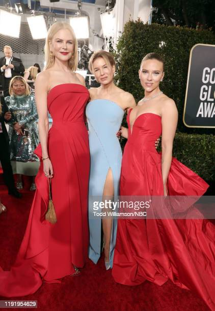 77th ANNUAL GOLDEN GLOBE AWARDS Pictured Nicole Kidman Renée Zellweger and Scarlett Johansson arrive to the 77th Annual Golden Globe Awards held at...