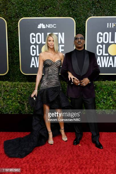 77th ANNUAL GOLDEN GLOBE AWARDS Pictured Paige Butcher and Eddie Murphy arrive to the 77th Annual Golden Globe Awards held at the Beverly Hilton...