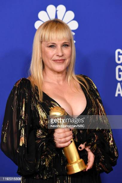 77th ANNUAL GOLDEN GLOBE AWARDS -- Pictured: Patricia Arquette in the press room after winning the award for Best Performance by an Actress in a...