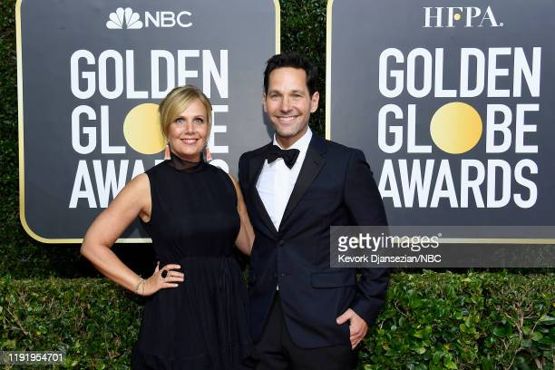 77th ANNUAL GOLDEN GLOBE AWARDS -- Pictured: Paul Rudd and Julie Rudd arrive to the 77th Annual Golden Globe Awards held at the Beverly Hilton Hotel...