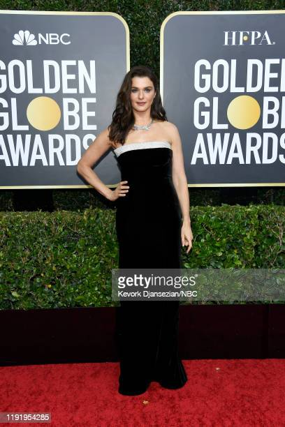 77th ANNUAL GOLDEN GLOBE AWARDS -- Pictured: Rachel Weisz arrives to the 77th Annual Golden Globe Awards held at the Beverly Hilton Hotel on January...