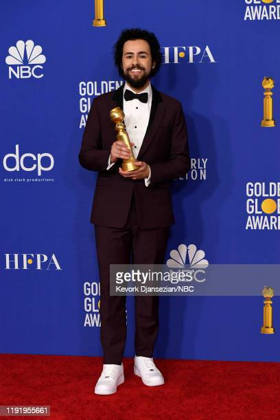 77th ANNUAL GOLDEN GLOBE AWARDS Pictured Ramy Youssef winner of the Best Performance by an Actor in a Motion Picture Musical or Comedy for Ramy in...