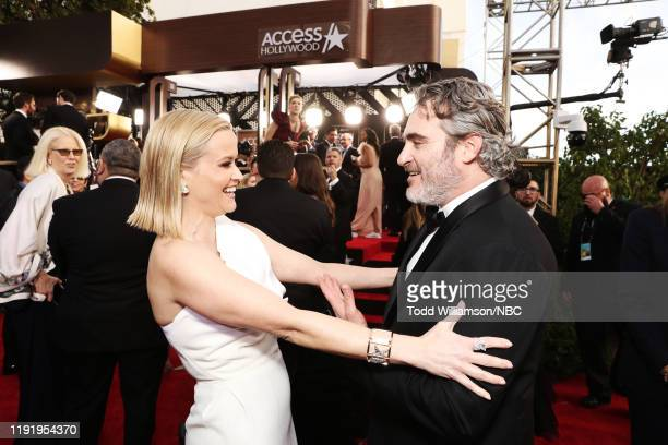 77th ANNUAL GOLDEN GLOBE AWARDS Pictured Reese Witherspoon and Joaquin Phoenix arrive to the 77th Annual Golden Globe Awards held at the Beverly...