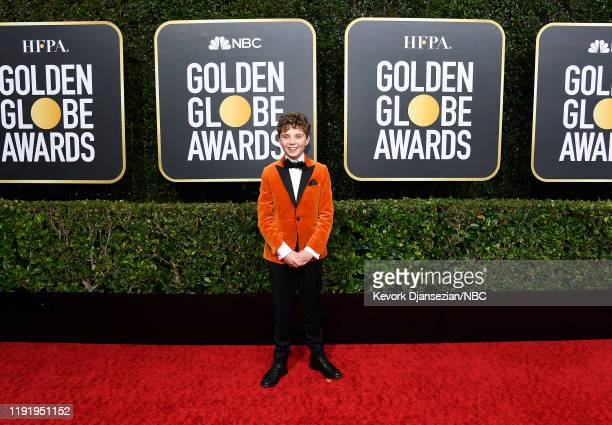 77th ANNUAL GOLDEN GLOBE AWARDS Pictured Roman Griffin Davis arrives to the 77th Annual Golden Globe Awards held at the Beverly Hilton Hotel on...