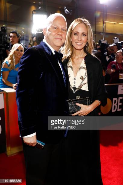 77th ANNUAL GOLDEN GLOBE AWARDS Pictured Ryan Murphy and Kim Raver arrive to the 77th Annual Golden Globe Awards held at the Beverly Hilton Hotel on...