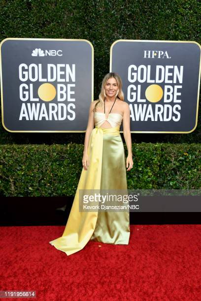 77th ANNUAL GOLDEN GLOBE AWARDS -- Pictured: Sienna Miller arrives to the 77th Annual Golden Globe Awards held at the Beverly Hilton Hotel on January...