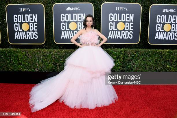 77th ANNUAL GOLDEN GLOBE AWARDS -- Pictured: Sofia Carson arrives to the 77th Annual Golden Globe Awards held at the Beverly Hilton Hotel on January...