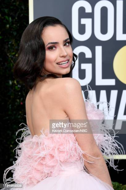 77th ANNUAL GOLDEN GLOBE AWARDS Pictured Sofia Carson arrives to the 77th Annual Golden Globe Awards held at the Beverly Hilton Hotel on January 5...