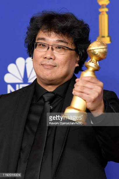 77th ANNUAL GOLDEN GLOBE AWARDS -- Pictured: Song Kang-ho poses in the press room after winning the award for Best Motion Picture - Foreign Language...