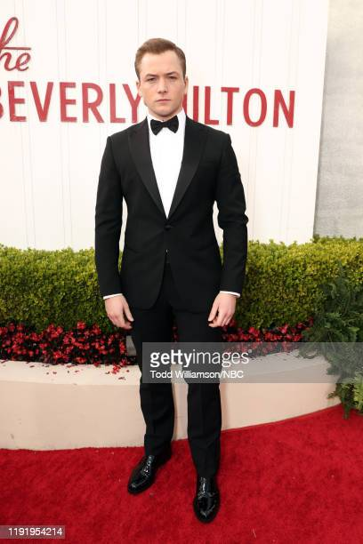 77th ANNUAL GOLDEN GLOBE AWARDS -- Pictured: Taron Egerton arrives to the 77th Annual Golden Globe Awards held at the Beverly Hilton Hotel on January...
