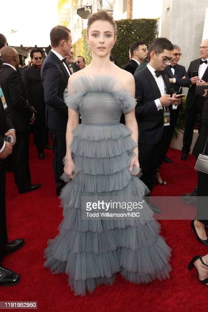 77th ANNUAL GOLDEN GLOBE AWARDS -- Pictured: Thomasin McKenzie arrive to the 77th Annual Golden Globe Awards held at the Beverly Hilton Hotel on...