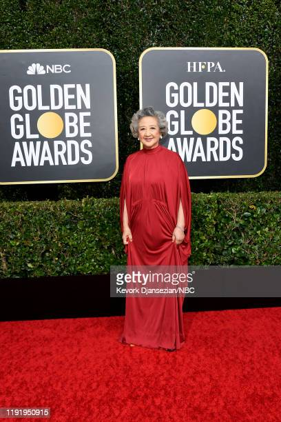77th ANNUAL GOLDEN GLOBE AWARDS -- Pictured: Zhao Shuzhen arrives to the 77th Annual Golden Globe Awards held at the Beverly Hilton Hotel on January...