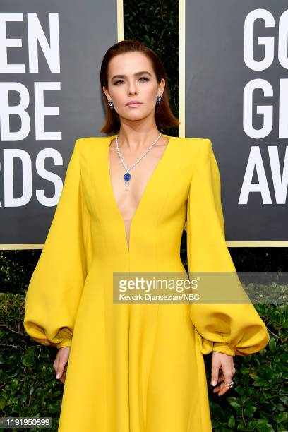 77th ANNUAL GOLDEN GLOBE AWARDS Pictured Zoey Deutch arrives to the 77th Annual Golden Globe Awards held at the Beverly Hilton Hotel on January 5 2020