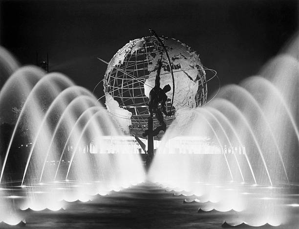 Sculpture, Fountains, and Unisphere at the 1964 World's Fair