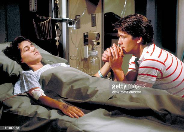 CHILDREN 7/8/84Kim Delaney and Laurence Lau in a scene on ABC Daytime's 'All My Children' on the ABC Television Network AMC84KIM