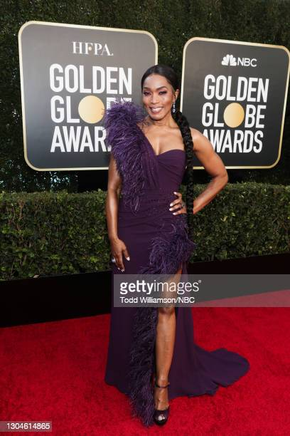 78th Annual GOLDEN GLOBE AWARDS -- Pictured: Angela Bassett attends the 78th Annual Golden Globe Awards held at The Beverly Hilton and broadcast on...
