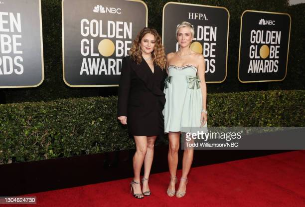 78th Annual GOLDEN GLOBE AWARDS -- Pictured: Annie Mumolo and Kristen Wiig attend the 78th Annual Golden Globe Awards held at The Beverly Hilton and...