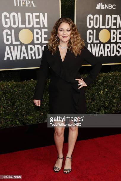 78th Annual GOLDEN GLOBE AWARDS -- Pictured: Annie Mumolo attends the 78th Annual Golden Globe Awards held at The Beverly Hilton and broadcast on...