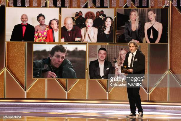 78th Annual GOLDEN GLOBE AWARDS -- Pictured: Best Actress in a Motion Picture – Drama nominees Viola Davis , Andra Day, Vanessa Kirby, Frances...
