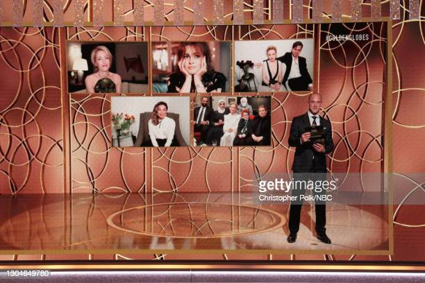 78th Annual GOLDEN GLOBE AWARDS -- Pictured: Best Supporting Actress – Television nominees Gillian Anderson, Annie Murphy, Helena Bonham Carter ,...